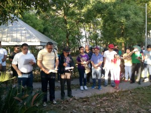 Bro Yulo led the station prayer for JESUS WAY OF THE CROSS