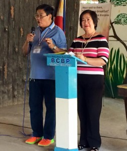 Bro Lindy and  Sister Dinah Alfar - the foundations of BCBP Talisay, now still reaching Argao ears for the Lords