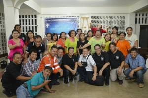 The SERVANTS of the LORD reaping new members for BCBP Talisay.